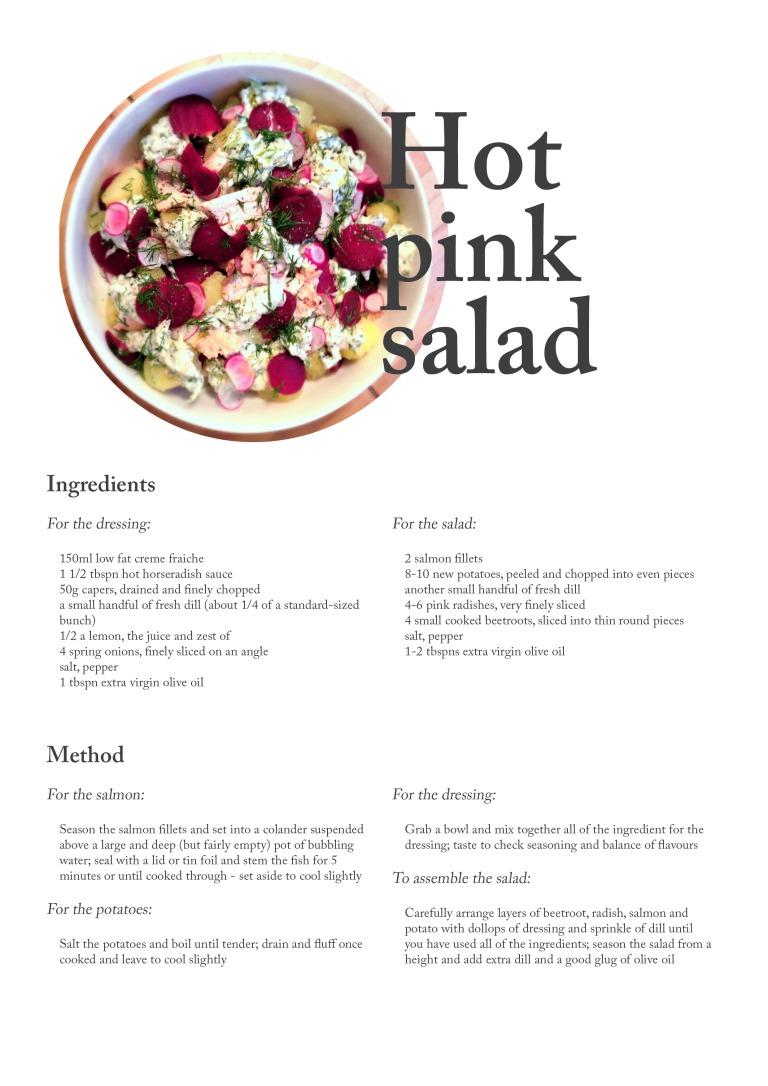 hot pink salad