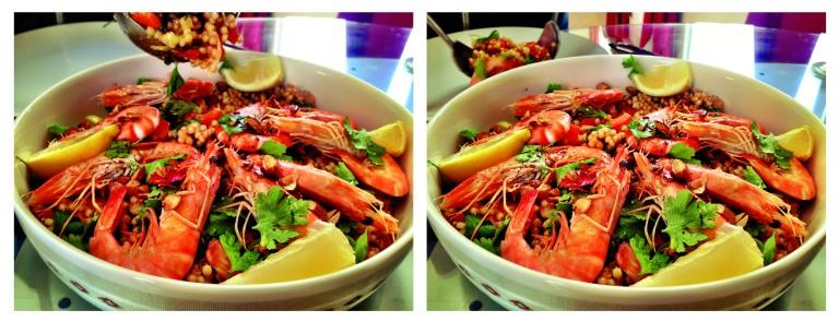 eat prawns